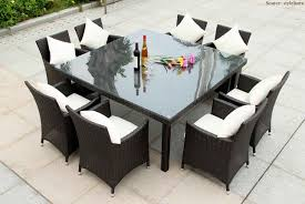 outdoor wicker square dining table morning glory 9 piece outdoor