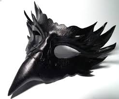 Black Raven Halloween Costume Raven Leather Mask Shadows Ink Deviantart Deviantart