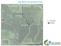 Big Bend Map Big Bend And The Iowa Valley Scenic Byway U2013 Iowa County Conservation