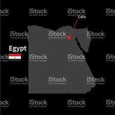 Map Of Egypt And Africa by Detailed Map Of Egypt And Capital City Cairo With Flag Stock