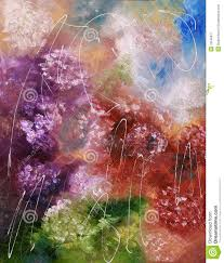 abstract color splash oil painting stock illustration image
