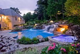 Waterfall For Backyard by Backyard Swimming Pools Waterfalls U0026 Natural Landscaping Nj