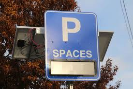 countdown signs aimed at helping drivers find parking in newark