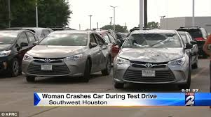 toyota camry uk test drives toyota camry and crashes the car in strange way