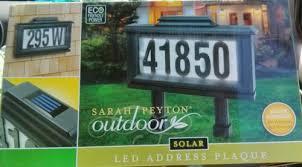 light up address sign solar powered light up street address sign youtube with idea 0