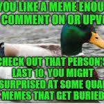 Advice Mallard Meme Generator - actual advice mallard meme generator imgflip