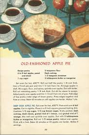 thanksgiving apple pie recipe old fashioned apple pie vintage pie recipes 1950s pie recipes