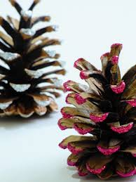 christmas crafts glitter pine cones tutorial garden tea cakes