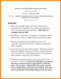 Example Of A Business Plan Cover Page 4 30 60 90 business plan resume sections