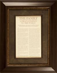framed family proclamation the family proclamation framed with temple picture home items