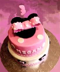 girls birthday cake minnie mouse ears 2nd birthday cake fondant