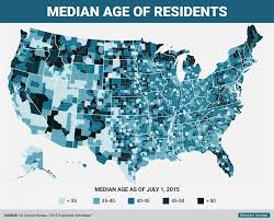 The Usa Map Youngest And Oldest Counties In The Us Map Business Insider