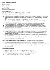 Psychology Resumes Professional Psychologist Templates To Showcase Your Talent
