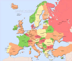 map to europe map of erupoe major tourist attractions maps