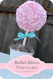 ruffled ribbon s day ruffled ribbon topiary tutorial