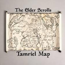 Oblivion Map Tamriel Map Skyrim Map Tes Map The Tamriel Empire Map