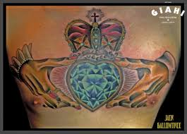 royal crown dimond heart tattoo by jack gallowtree best tattoo