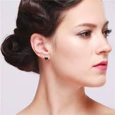 black earrings uloveido exclusive cool black earrings silver color stud earrings