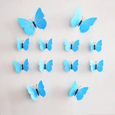Butterfly 3d Wall Art by 12multicolor Butterfly 3d Butterfly Decoration Wall Stickers Pvc