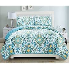 Bedspreads And Coverlets Quilts Amazon Com 3 Piece Fine Printed Quilt Set King Size Bedspread
