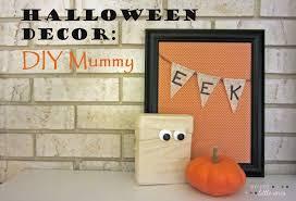 Diy Halloween Wall Decorations Sweet Little Ones Halloween Decor Diy Mummy