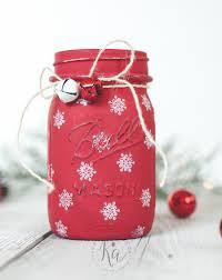 stamped snowflake mason jar luminary ka styles
