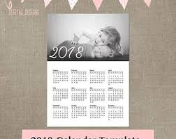 2017 calendar template family psd file can be resized