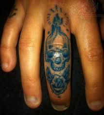 sugar skull finger view more finger tattoos sugar skull