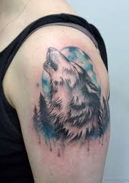 51 wolf tattoos on shoulder