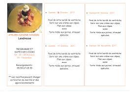 cours de cuisine 64 reprise des cours de cuisine à lendresse commune de mont arance