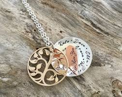 great grandmother necklace names and initials