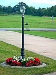 led driveway pole lights yard light pole solar led yard pole light cuca me