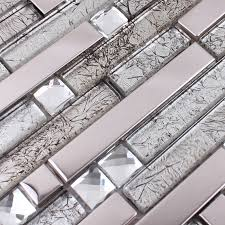 Sample Rustic Copper Linear Natural by Glass And Metal Tile Backsplash Ideas Bathroom Stainless Metal