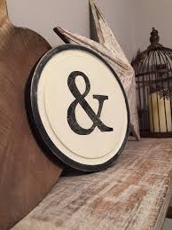 initial home decor 8 round letter ampersand sign monogram initial wall art home