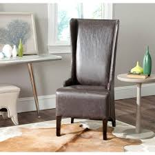 safavieh bacall antique brown bicast leather dining chair mcr4501n