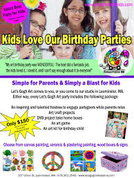 let u0027s gogh art art birthday parties for children