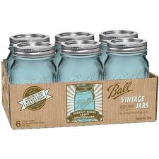 Vintage Style Kitchen Canisters Amazon Com Ball Jar Heritage Collection Pint Jars With Lids And