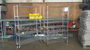 Used Steel Shelving by Used Chrome Metal Shelving For Sale American Warehouse Equipment