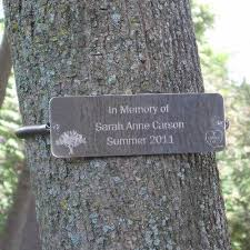 outdoor memorial plaques tree huggers tree plaques personalized i want