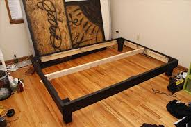 bed frame plns how to make a simple wood bed frame for building