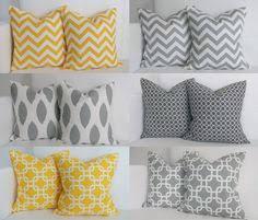 Grey Decorative Pillows Navy And Mustard Yellow Throw Pillows Set Of 3 Decor