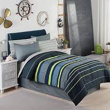 Grey Twin Bedding Modern Living Gray Blue U0026 Green Boys Stripe Twin Comforter Set 6
