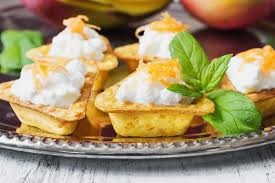 canape cottage canape with cottage cheese stock photo image of green 48880244