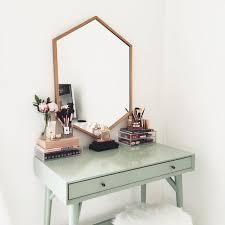 west elm mid century mini desk blush pink and pale green interior colour palette ideas desks mid