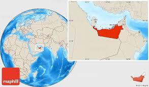 map of abu dabi shaded relief location map of abu dhabi