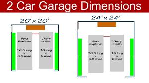 garage affordable 2 car garage dimensions design how deep should