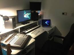 charming bedroom studio desk and small recording design ideas