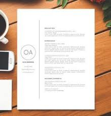 minimalist professional resume cv template by minimalistcafe