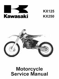 kawasaki kx125 kx250 service manual repair 1999 2000 2001 2002
