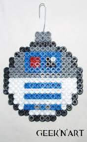 stormtrooper wars ornament hama by geeknart
